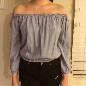 Brandy Melville Off-the-Shoulder Crop Top